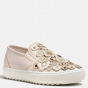 COACH Tea Rose floral Slip-On Sneakers PRICE FIRM